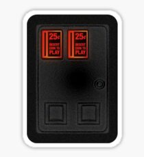 Arcade Coin Door Sticker