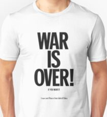 War Is over Poster Unisex T-Shirt