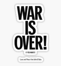 War Is over Poster Sticker