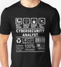 CYBERSECURITY ANALYST - NICE DESIGN 2017 Unisex T-Shirt