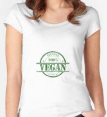 Certified 100% Vegan Women's Fitted Scoop T-Shirt