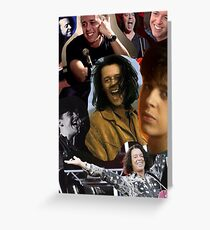 Roland Orzabal Collage - Color + B&W Greeting Card