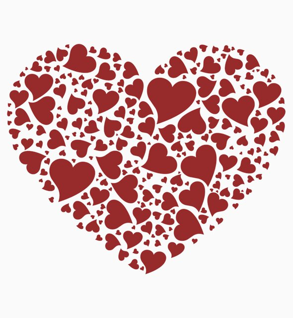 Hearts in heart by Dufranne Thomas