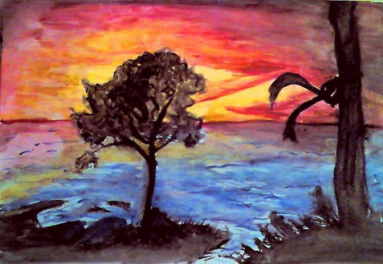 sunset by Gulziyba