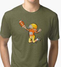 American Football Cartoon Style 28/41 Tri-blend T-Shirt