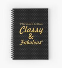 """A girl shoud... """"Coco Chanel"""" Inspirational Quote Spiral Notebook"""