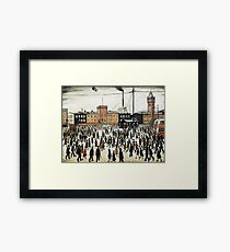LOWRY, Artist, Matchstick men, Laurence Stephen Lowry, Going to Work. Framed Print