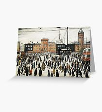 LOWRY, Artist, Matchstick men, Laurence Stephen Lowry, Going to Work  Greeting Card