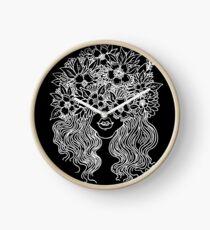 forever flower crown Clock
