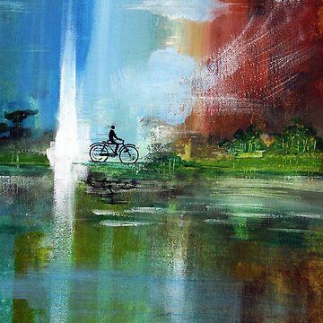 The Cyclist by tridibghosh