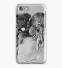Young Girl and Puppy iPhone Case/Skin