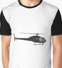 Black light helicopter Graphic T-Shirt