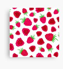 Raspberry Background Painted Pattern Canvas Print
