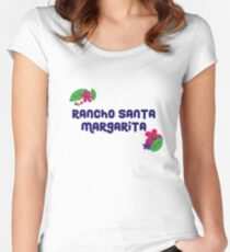 Rancho Santa Margarita with Flowers/ Purple Women's Fitted Scoop T-Shirt