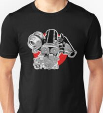 2JZ engine JDM tuner illustration Unisex T-Shirt