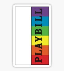 Pride Playbill Sticker