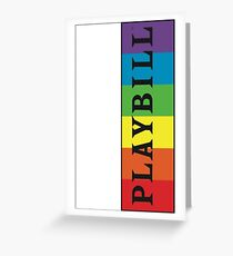 Pride Playbill Greeting Card