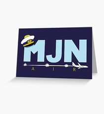 MJN Air  Greeting Card