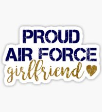 Proud Air Force Girlfriend Sticker