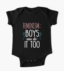 Feminism Boys Can Do It Too One Piece - Short Sleeve