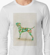 Vizsla Typographic Watercolor Painting T-Shirt