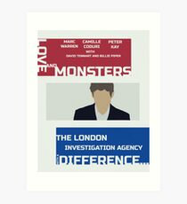 Love and Monsters retro print Art Print