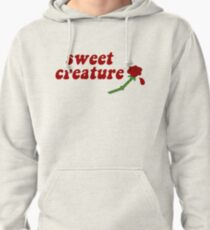 Sweet Creature Rose Design Pullover Hoodie