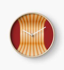 Gestreifte Leinwand rund doppelt Clock