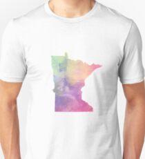 Watercolor Minnesota Unisex T-Shirt