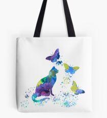 Watercolor Cat Art Tote Bag