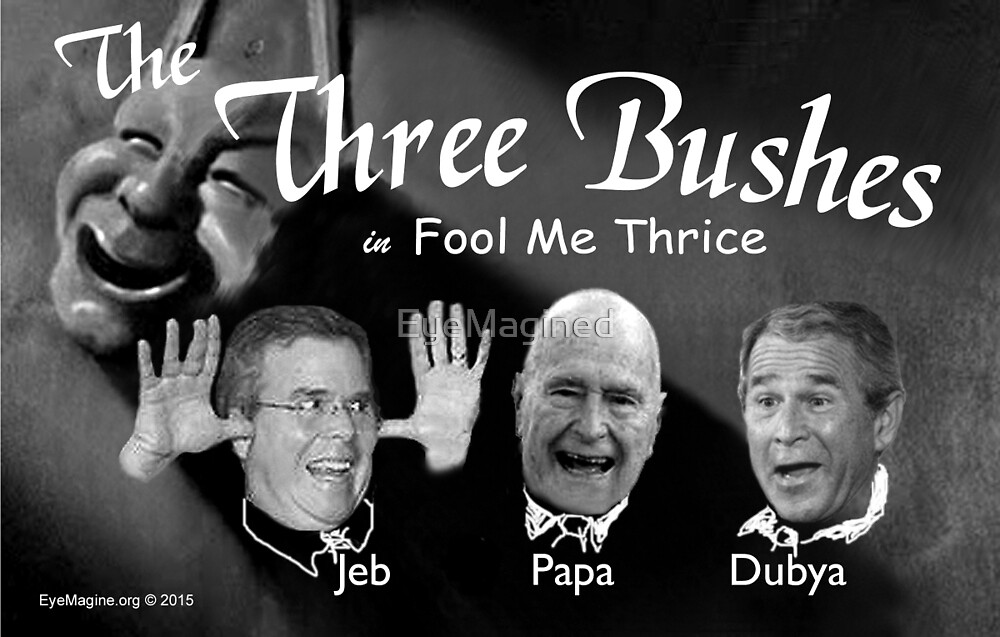 """The Three Bushes in """"Fool Me Thrice"""" by EyeMagined"""