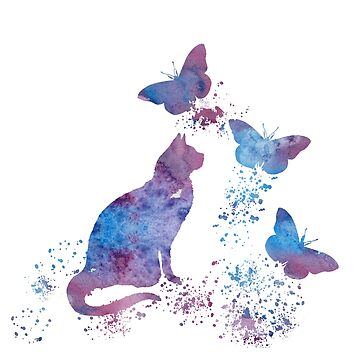 Water color Cat Art by TheJollyMarten