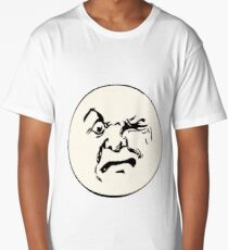 THE MAN ON THE MOON IS AN ANGRY MOFO Long T-Shirt