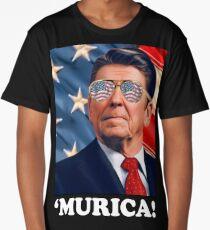 Funny Ronald Reagan 'Merica: Patriotic, Hip, & American! Murica Long T-Shirt