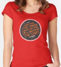 Shoot for the moon Women's Fitted Scoop T-Shirt