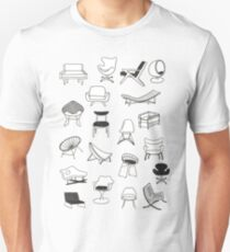 Mid Century Modern Chair Collection Unisex T-Shirt