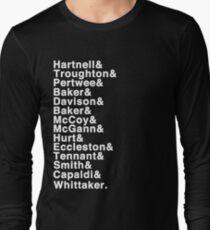 The Doctor (Hartnell - Whittaker) Long Sleeve T-Shirt