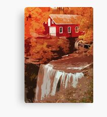 Red Mill at sunset Canvas Print