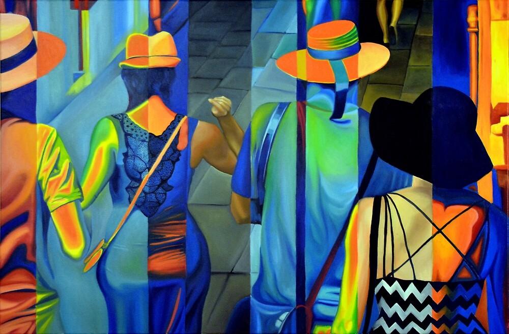 Shall we dance my friend, 120-80cm, 2016, oil on canvas by oanaunciuleanu