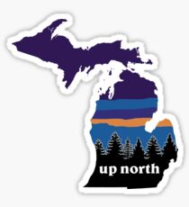 Up North Mitten Sticker