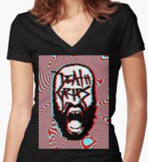 Death Grips - Vaporwave Women's Fitted V-Neck T-Shirt