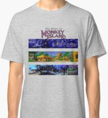 The secret of Monkey Island Backgrounds Classic T-Shirt
