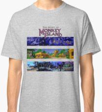 The secret of Monkey Island Backgrounds Classic T-Shirt