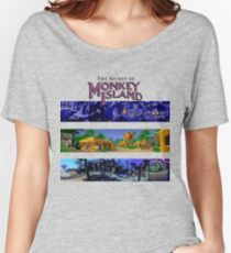 The secret of Monkey Island Backgrounds Women's Relaxed Fit T-Shirt