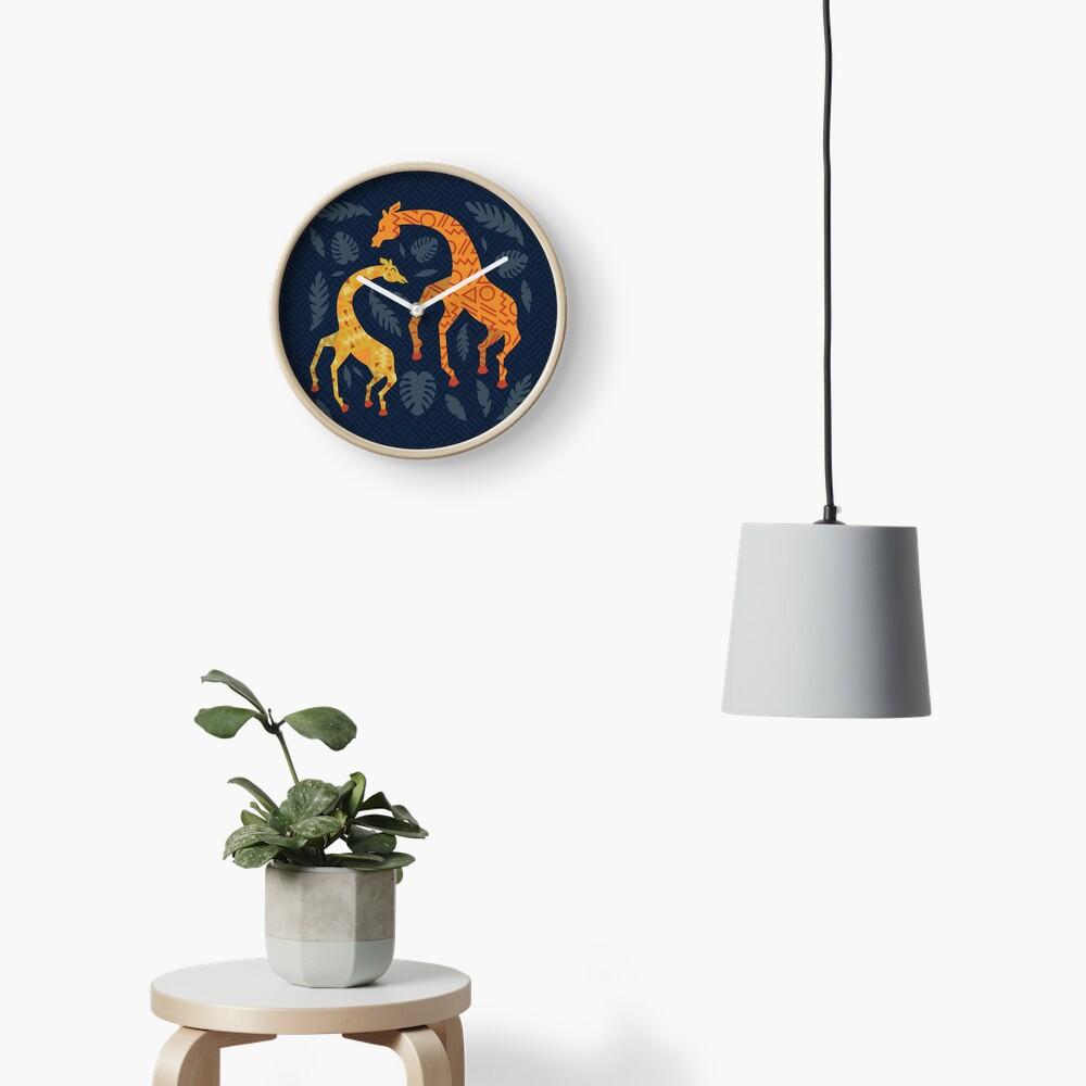 Bailando jirafas con patrones Reloj