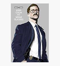 GOTHAM Gordon Keep Calm and Wear Glassess Photographic Print