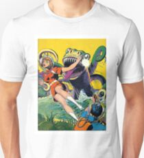 Green monster attack from the water, sci-fi, fantasy poster T-Shirt