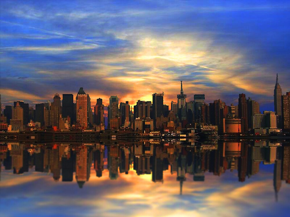 Sunset Over New York  by kelleybear