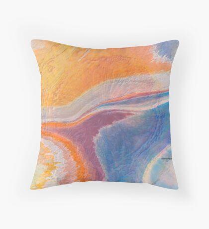 When Oceans Meet Throw Pillow