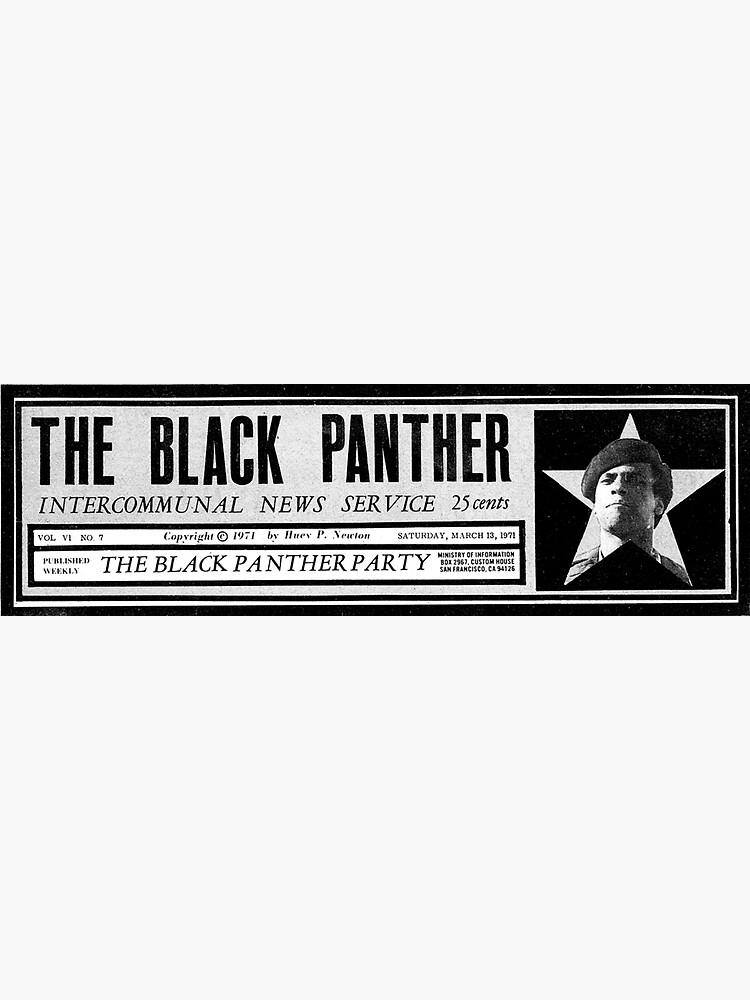 Der schwarze Pantherparty-Nachrichtenpapieraufkleber von simonZan